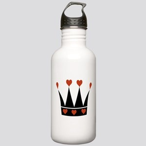 Crown With Hearts Stainless Water Bottle 1.0L