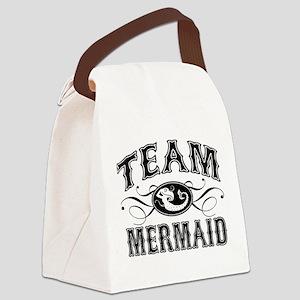 Team Mermaid Canvas Lunch Bag