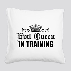 Evil Queen In Training Square Canvas Pillow