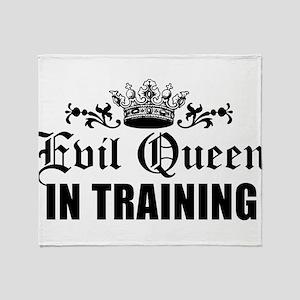 Evil Queen In Training Throw Blanket