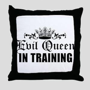 Evil Queen In Training Throw Pillow