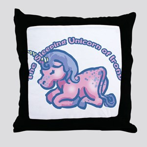 Sleeping Unicorn Of Irony Throw Pillow