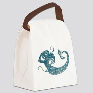 Worn Mermaid Graphic Canvas Lunch Bag