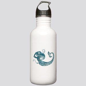 Worn Mermaid Graphic Stainless Water Bottle 1.0L