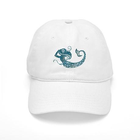 Worn Mermaid Graphic Cap