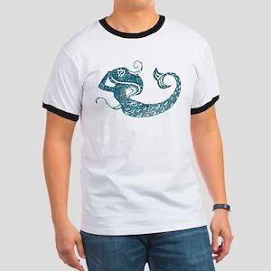 Worn Mermaid Graphic Ringer T