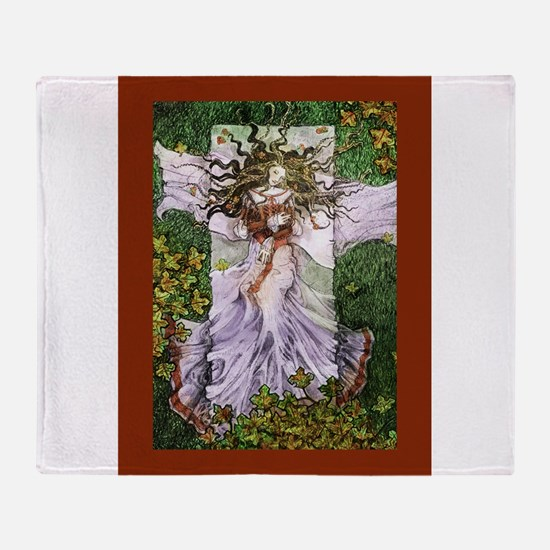 Fairy Tale Sleeping Woman Throw Blanket