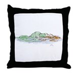 Ophelia In The Water Throw Pillow