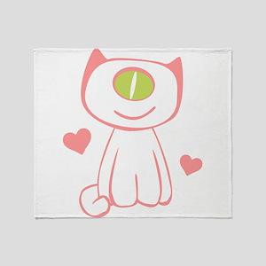 Cyclops Kitten Throw Blanket