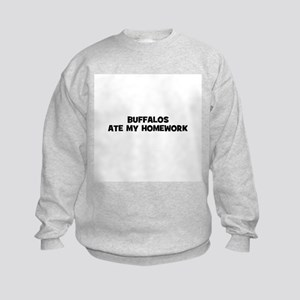 Buffalos Ate My Homework Kids Sweatshirt