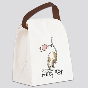 I Love My Fancy Rat Canvas Lunch Bag