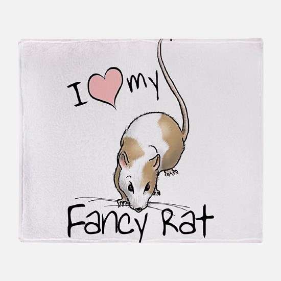 I Love My Fancy Rat Throw Blanket