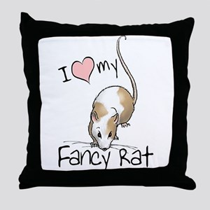 I Love My Fancy Rat Throw Pillow