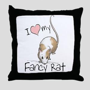 I Love My Fancy Rat Throw Pillow