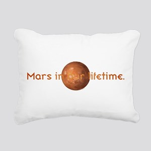 Mars In Our Lifetime Rectangular Canvas Pillow