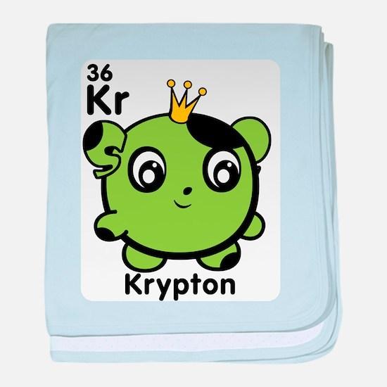 Cute Element Krypton baby blanket