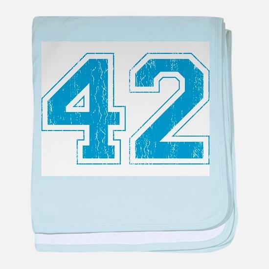 Retro Number 42 baby blanket