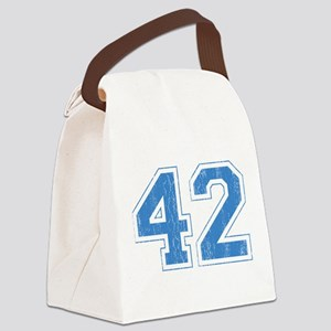 Retro Number 42 Canvas Lunch Bag