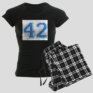 Retro Number 42 Women's Dark Pajamas
