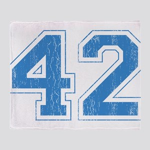 Retro Number 42 Throw Blanket
