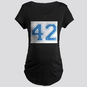 Retro Number 42 Maternity Dark T-Shirt
