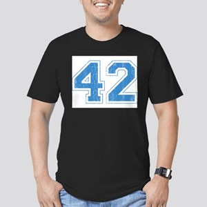 Retro Number 42 Men's Fitted T-Shirt (dark)