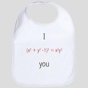 Math Love Formula Bib