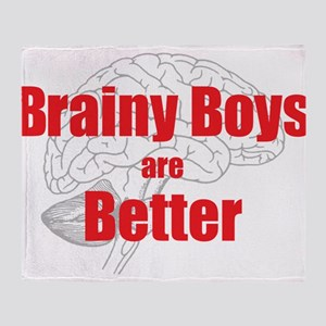 Brainy Boys Are Better Throw Blanket