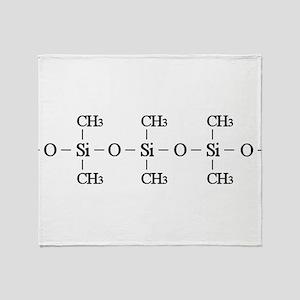 Silicone Molecule Throw Blanket
