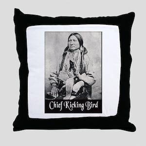 Chief Kicking Bird Throw Pillow