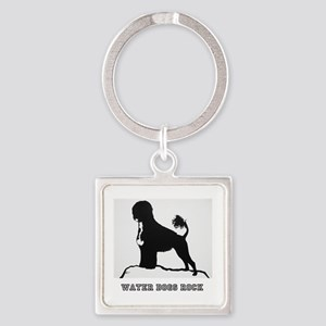 Water Dogs ROCK! Square Keychain