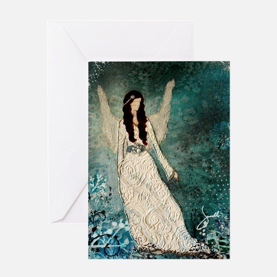 Winter Angel Greeting Cards