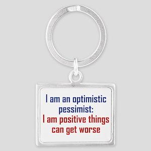 Optimistic Pessimist Landscape Keychain