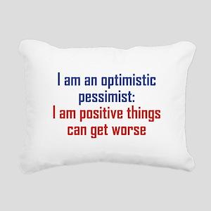 Optimistic Pessimist Rectangular Canvas Pillow