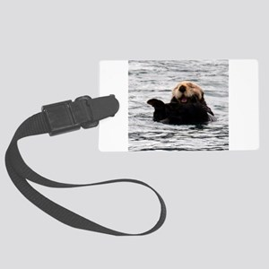 Smiling Otter Luggage Tag