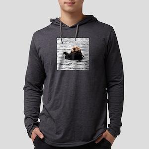 Smiling Otter Mens Hooded Shirt