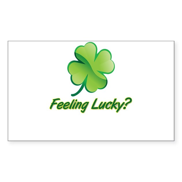 Saint patrick 39 s day feeling lucky decal by swagshop7 - Lucky color of the day ...