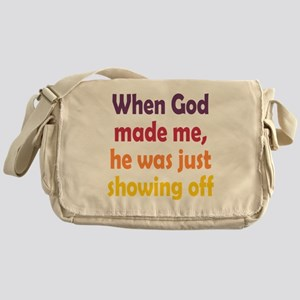 God Showing Off Messenger Bag