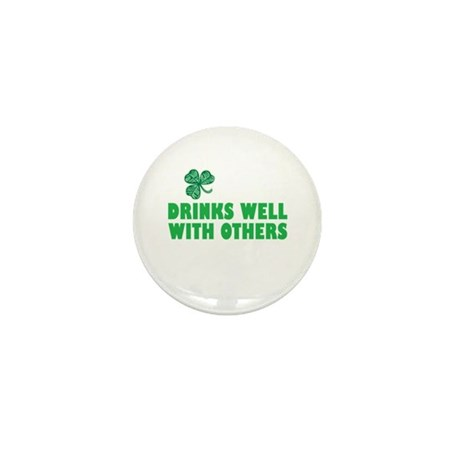 Drinks Well With Others - Mini Button (10 pack)