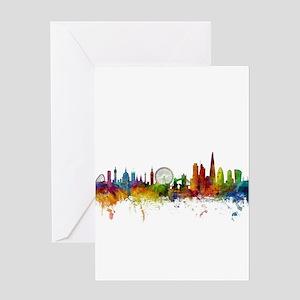 London England Skyline Greeting Cards