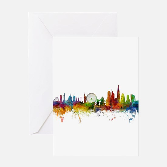 London England Skyline Greeting Cards