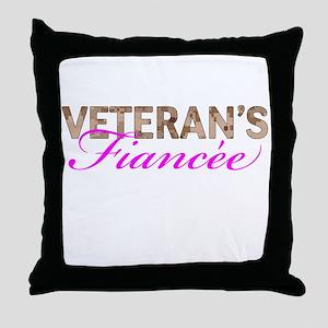 Marine Vet's Fiancee Desert Throw Pillow
