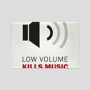 Low Volume Kills Music Rectangle Magnet