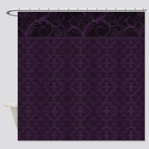 Royal Purple Damask Shower Curtain