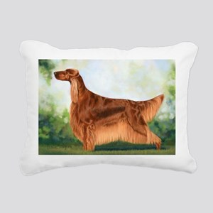 Irish Setter 3 by Dawn Secord Rectangular Canv