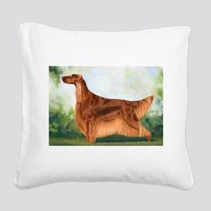 Irish Setter 3 by Dawn Secord Square Canvas Pi