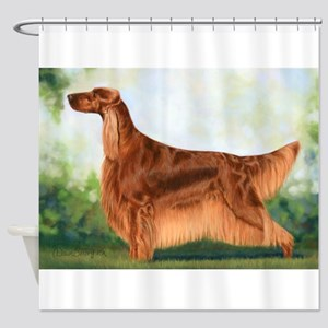 Irish Setter 3 by Dawn Secord Shower Curtain