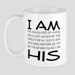 I am His block letters Mug