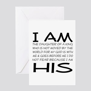 I am His block letters Greeting Card