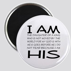 I am His block letters Magnet